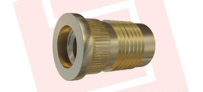 Threaded bushing for press-in with knurl and ridges