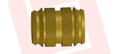 Symmetrically designed threaded bushing for press-in